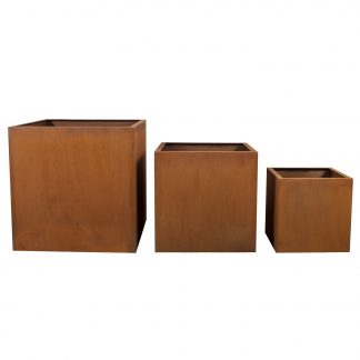 fioriera in corten 40 x 40 (Copia)